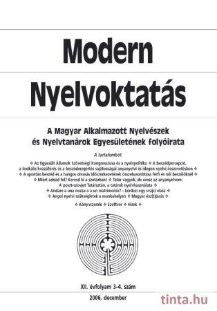 Modern Nyelvoktatás 2006. 3-4. szám