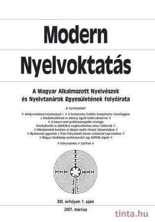 Modern Nyelvoktatás 2007. 1. szám