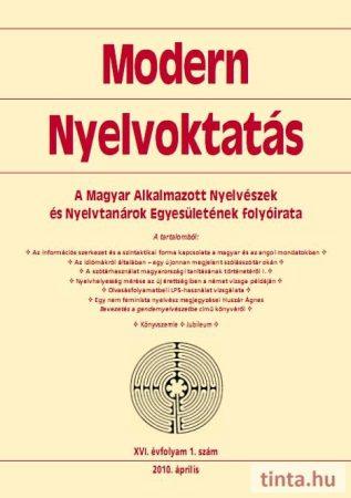 Modern Nyelvoktatás 2010. 1. szám