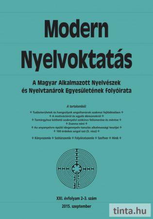 Modern Nyelvoktatás 2015. 2-3. szám