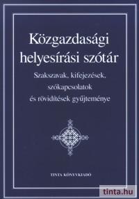 Közgazdasági helyesírási szótár