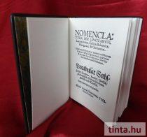 Nomenclatura sex linguarum, azaz hatnyelvű szótár,  Bécs, 1538 - díszkiadás