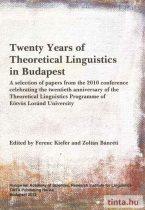 Twenty Years of Theoretical Linguistics in Budapest