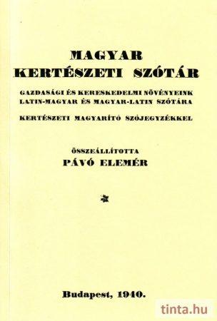 Magyar kertészeti szótár