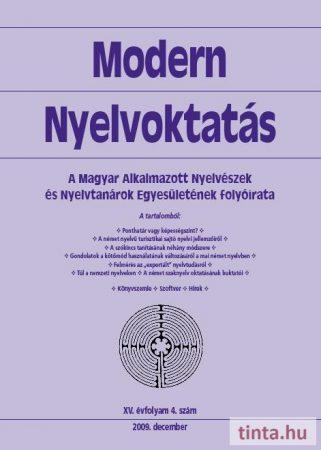 Modern Nyelvoktatás 2009. 4. szám