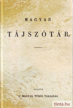 Magyar tájszótár  (1838)